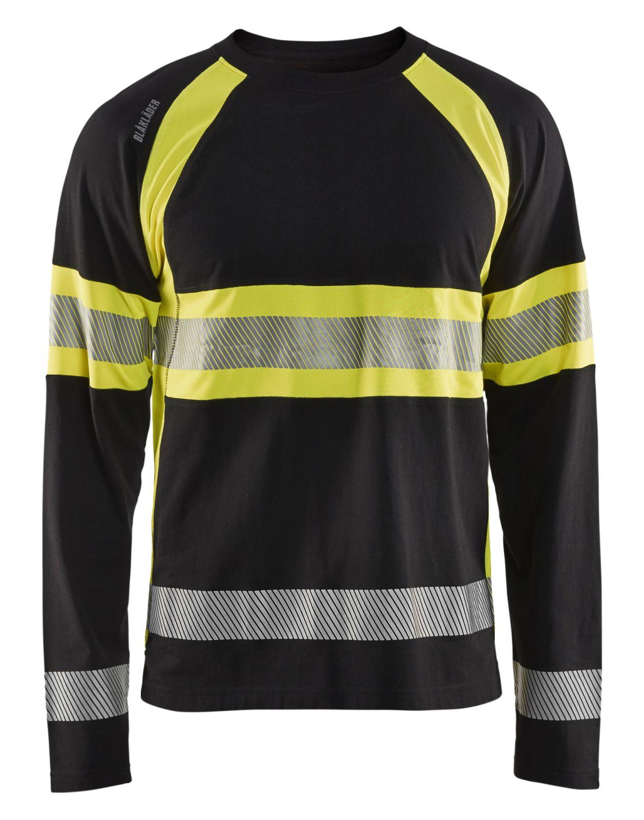 Blaklader T-shirts 35101030 High Vis zwart-fluo geel(9933)