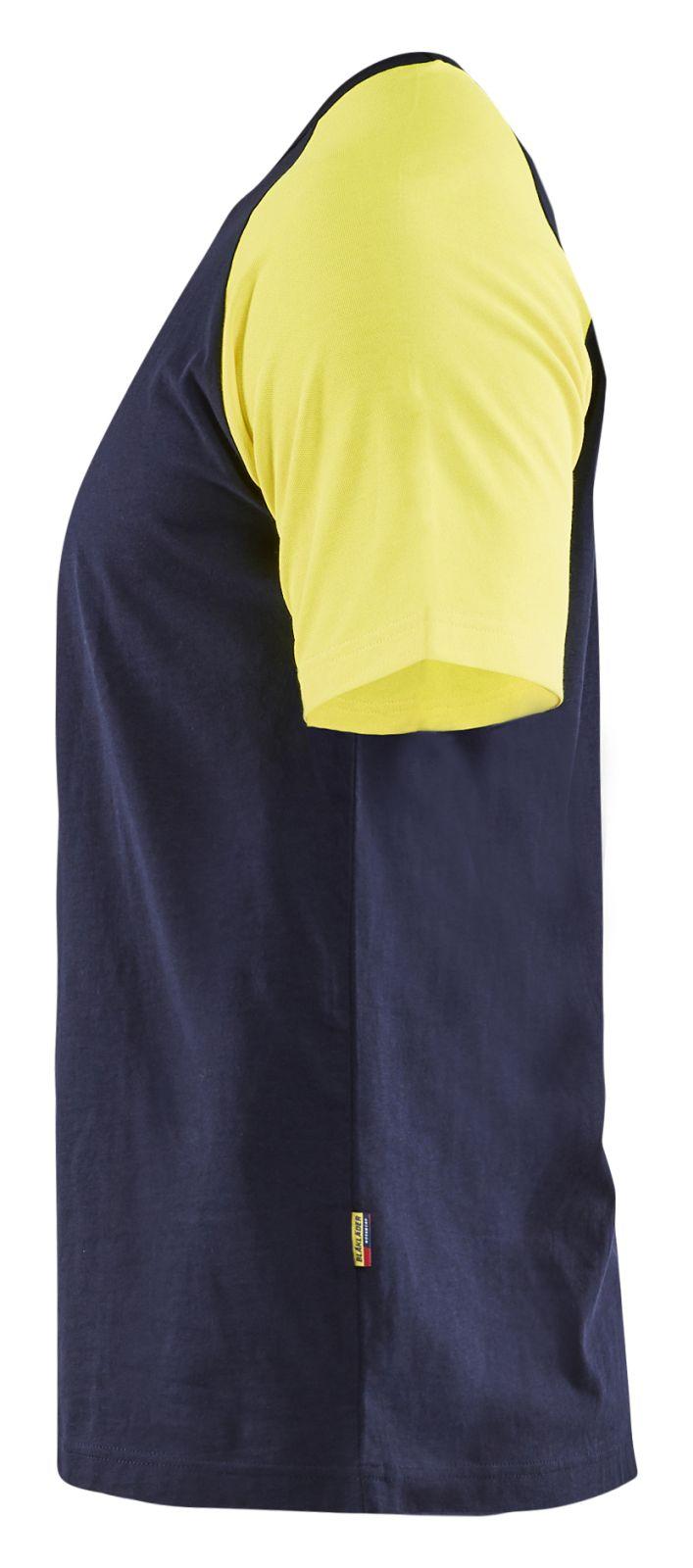 Blaklader T-shirts 35151030 High Vis marineblauw-fluo geel(8833)