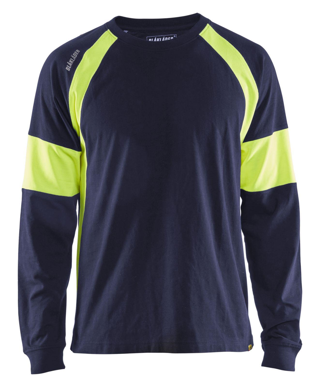 Blaklader T-shirts 35201030 marineblauw-fluo geel(8833)