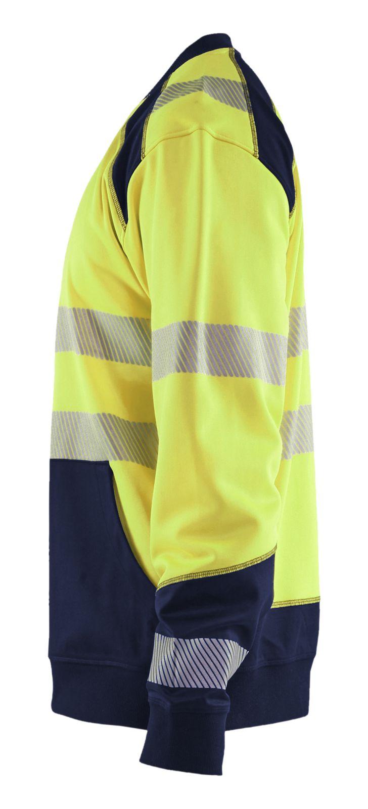 Blaklader Truien 35412528 High Vis fluo geel-marineblauw(3389)