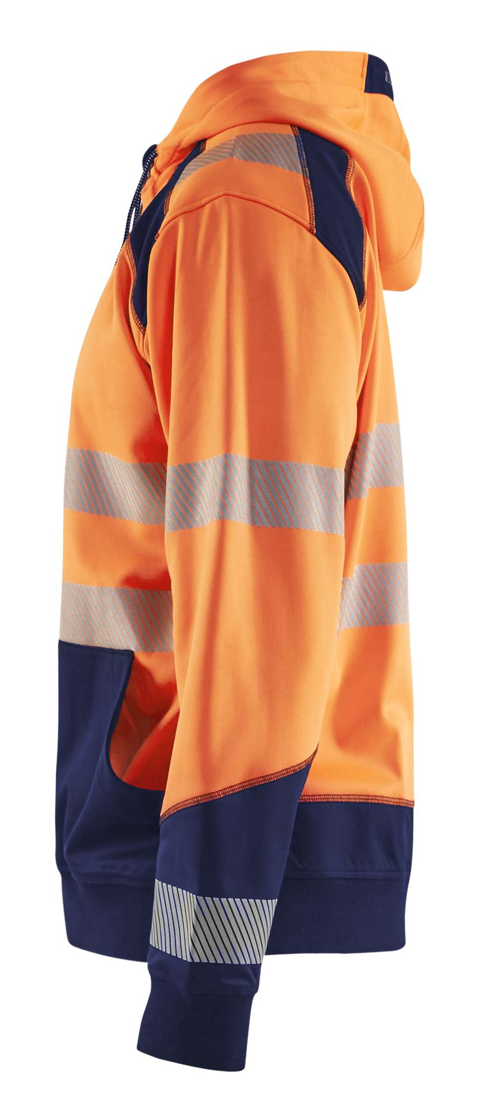 Blaklader Hooded sweatvesten 35462528 High Vis fluo oranje-marineblauw(5389)