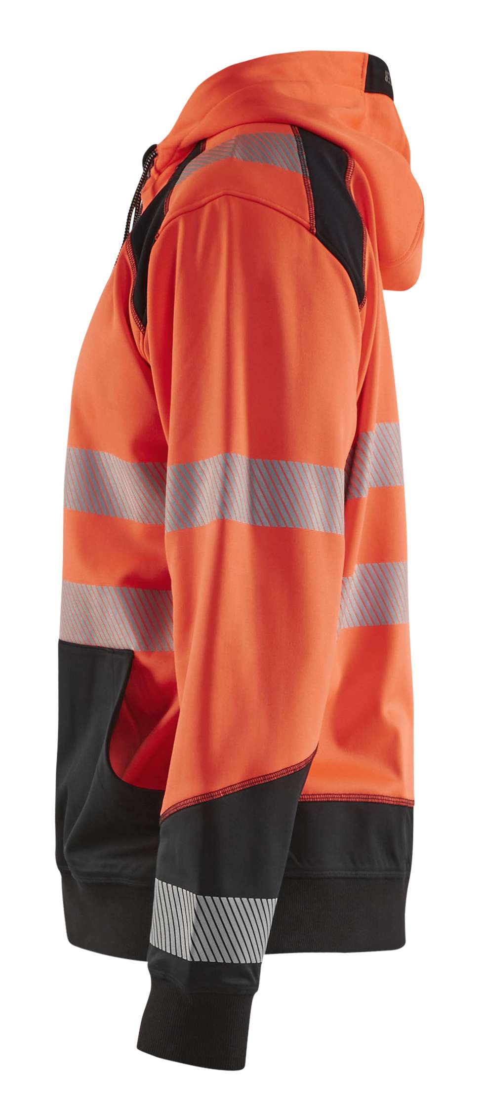 Blaklader Hooded sweatvesten 35462528 High Vis fluo rood-zwart(5599)
