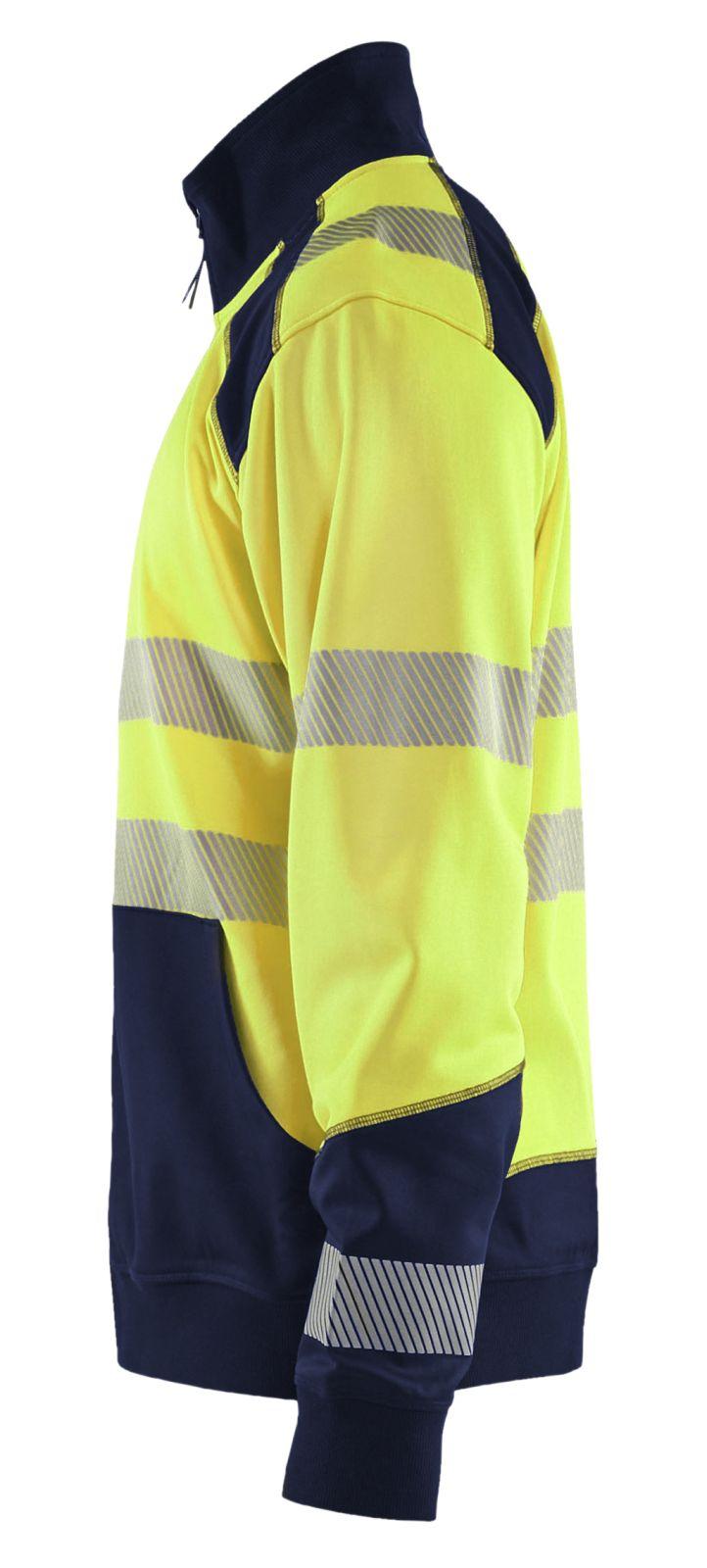 Blaklader Truien 35562528 High Vis fluo geel-marineblauw(3389)