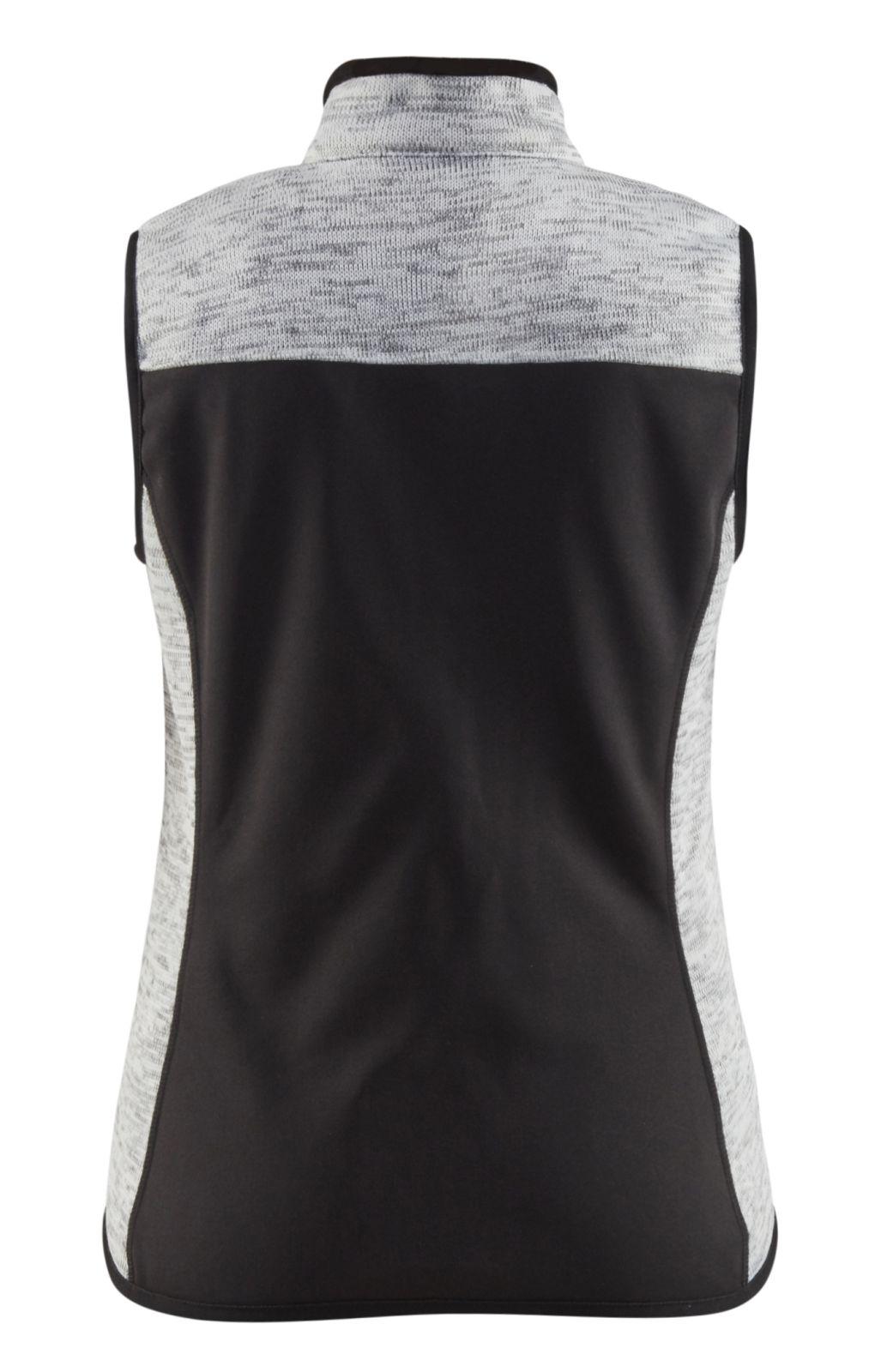 Blaklader Dames bodywarmers 38122117 Gebreid grijs melange-rood(9056)