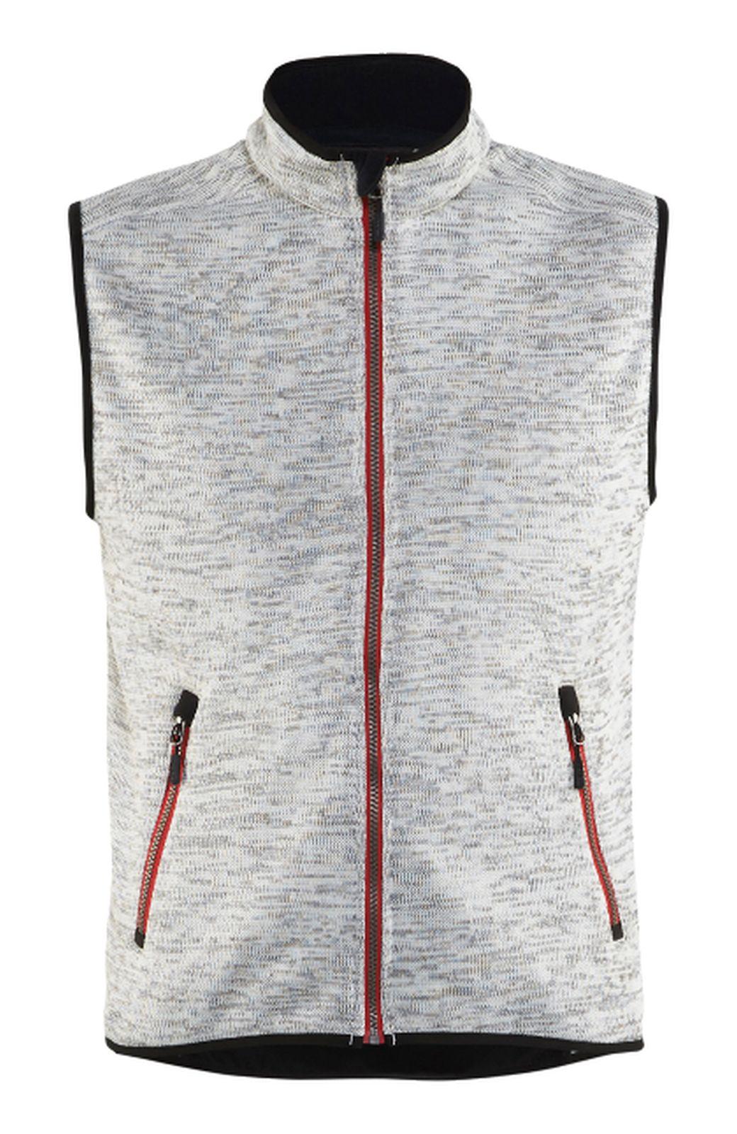 Blaklader Bodywarmers 38422117 Gebreid grijs melange-rood(9056)