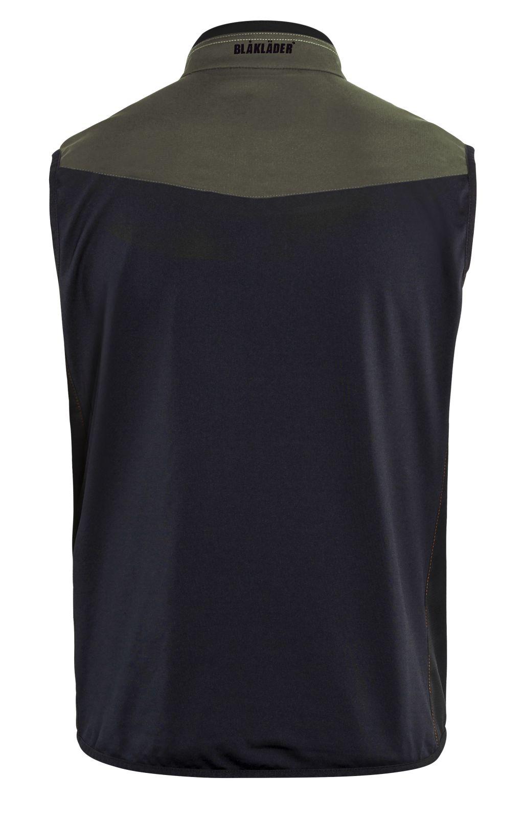 Blaklader Softshell bodywarmers 38502516 groen-zwart(4599)
