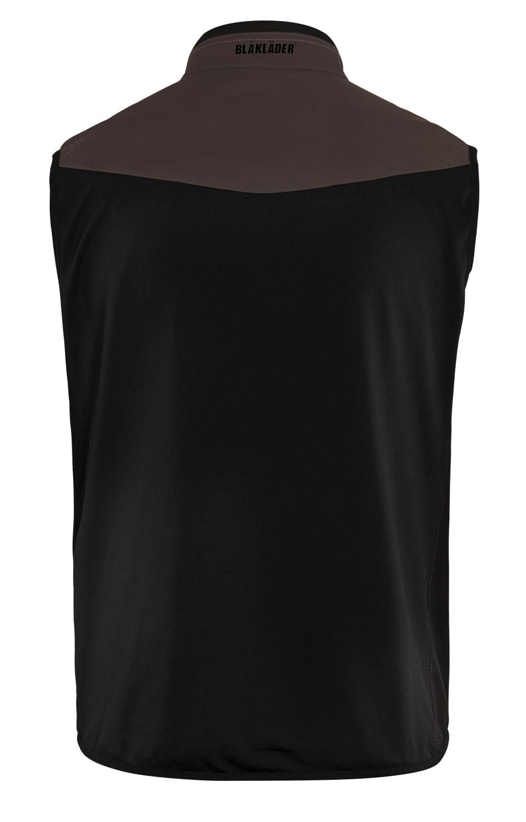 Blaklader Softshell bodywarmers 38502516 bruin-zwart(7899)