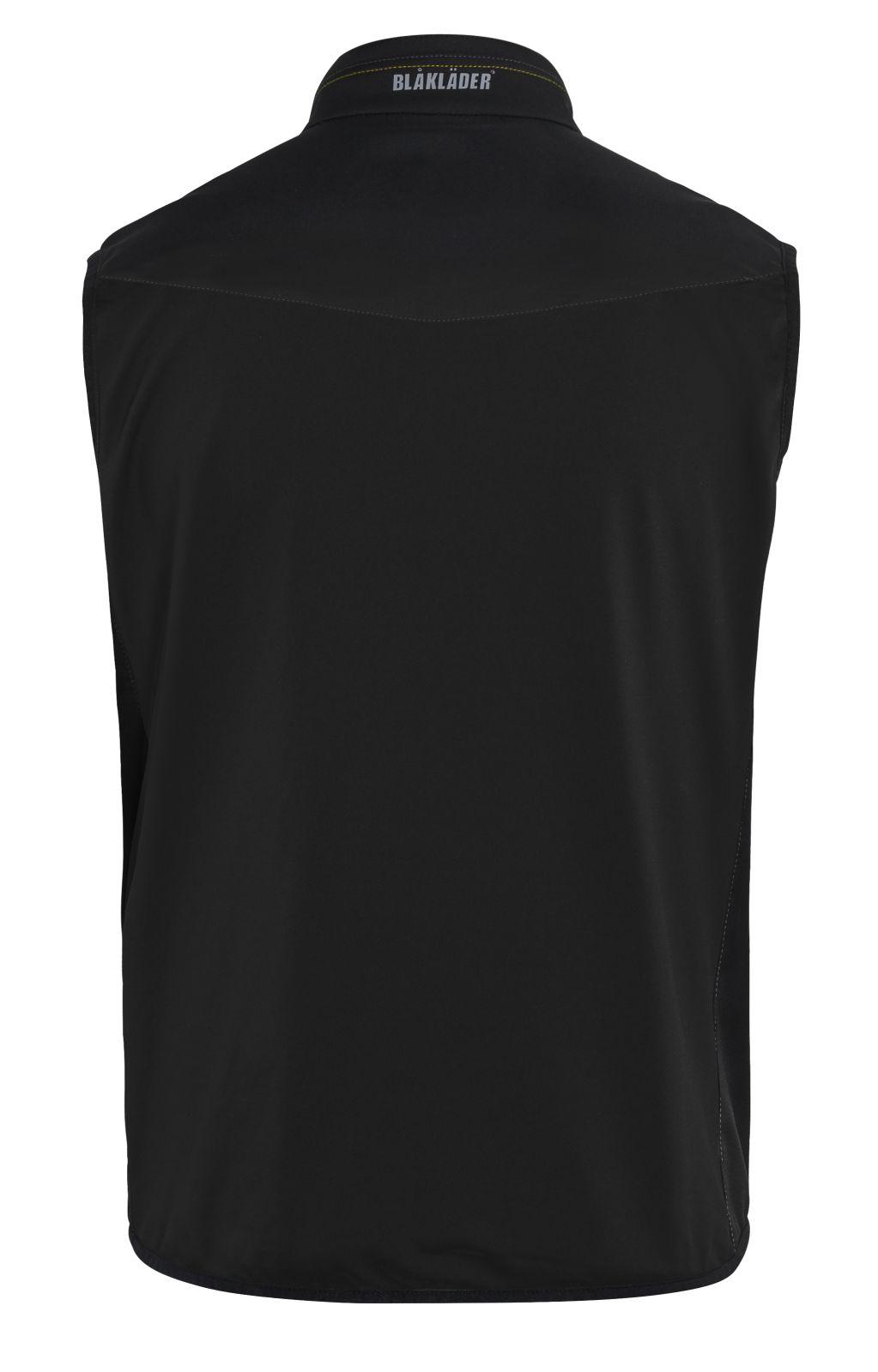 Blaklader Softshell bodywarmers 38502516 zwart-geel(9933)