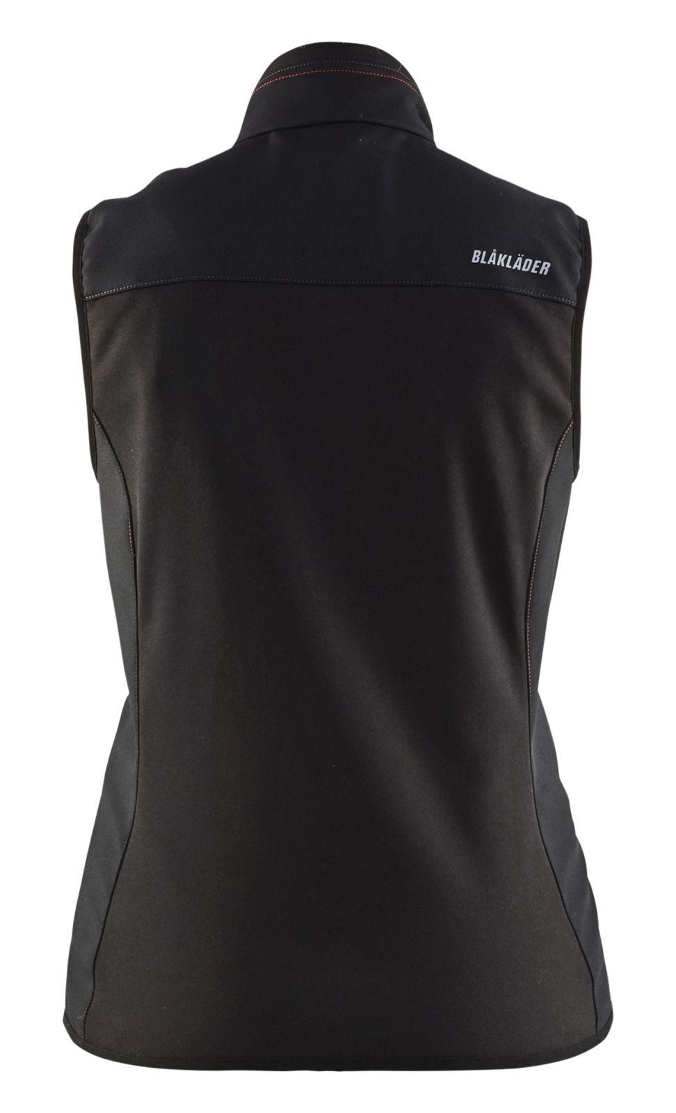 Blaklader Dames bodywarmers 38512516 zwart-rood(9956)