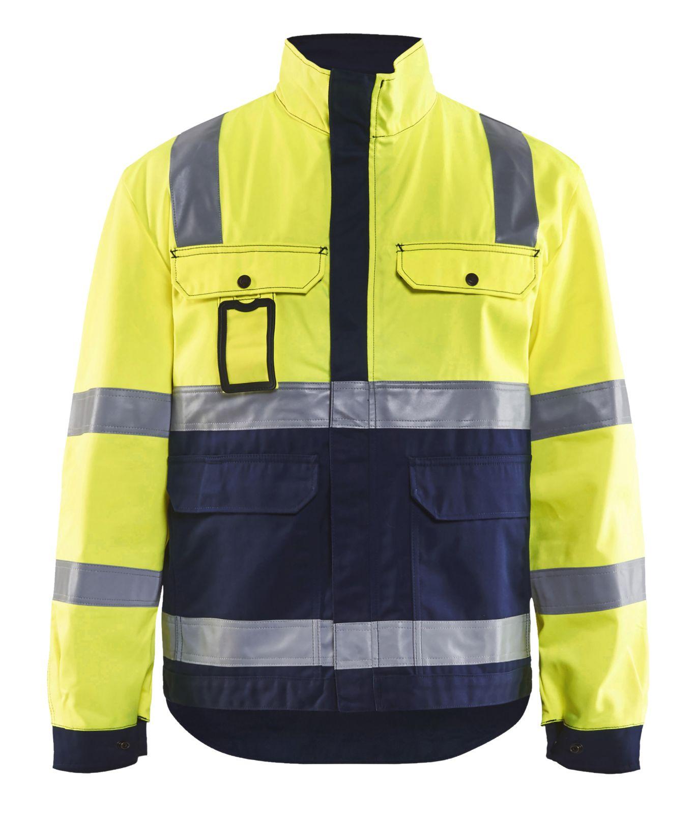 Blaklader Jassen 40231804 High Vis fluo geel-marineblauw(3389)