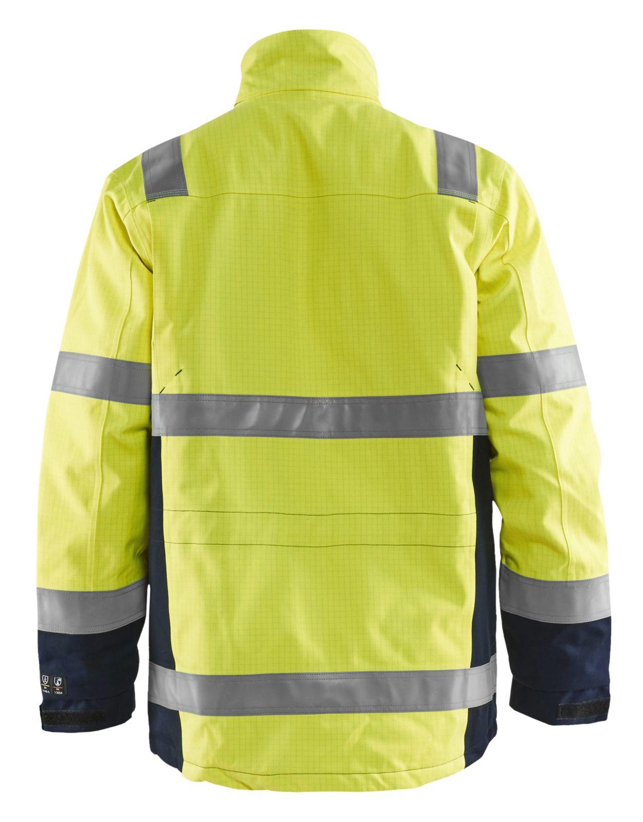 Blaklader Winterjassen 40681530 Multinorm High Vis geel-marineblauw