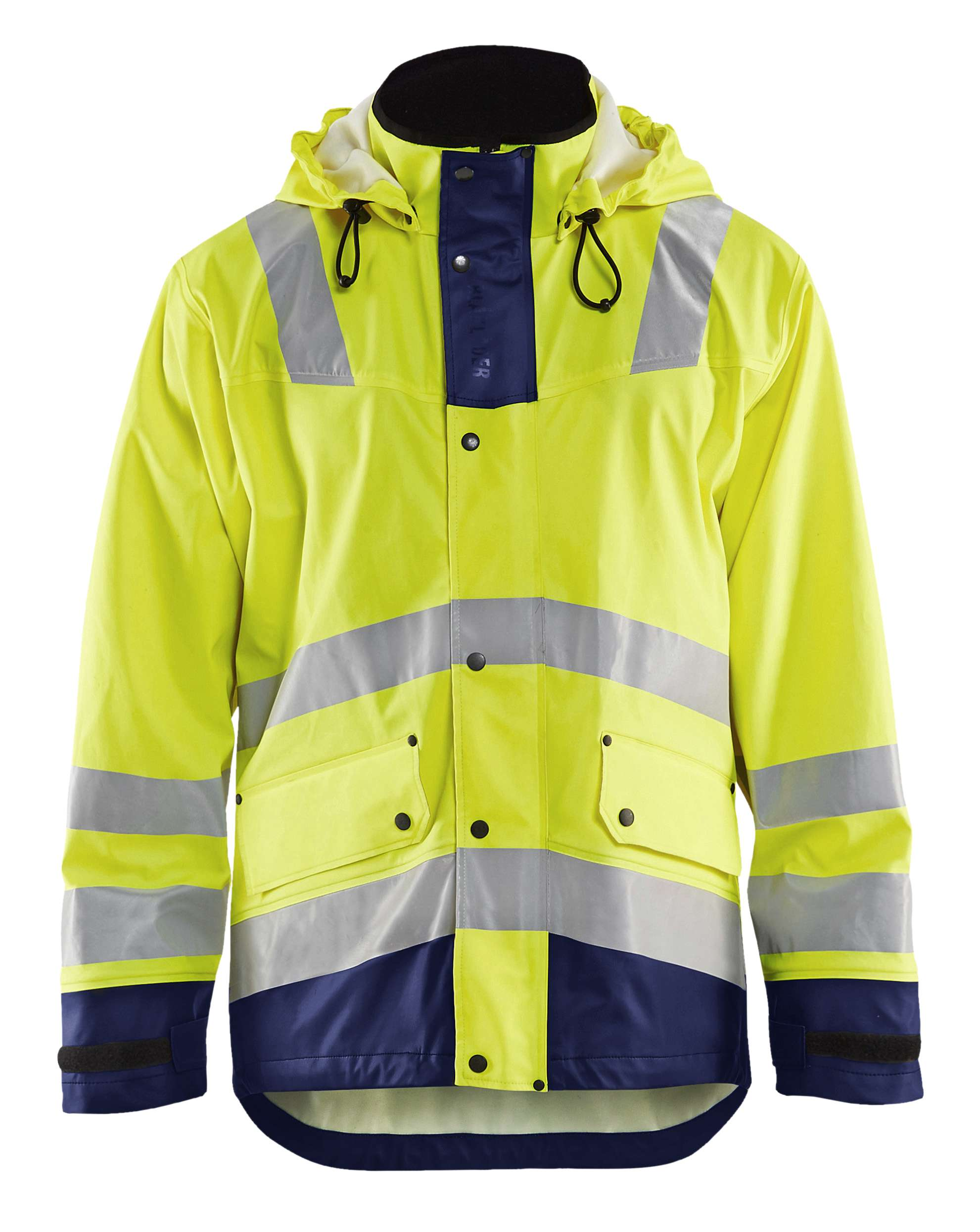 Blaklader Regenjacks 43022003 High Vis geel-marineblauw(3389)
