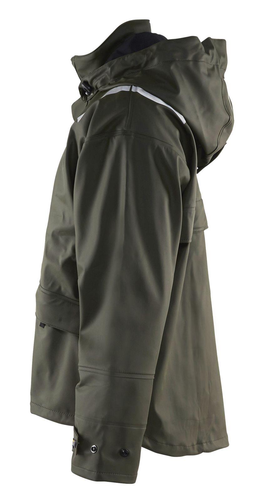 Blaklader Regenjacks 43022003 High Vis army groen(4600)