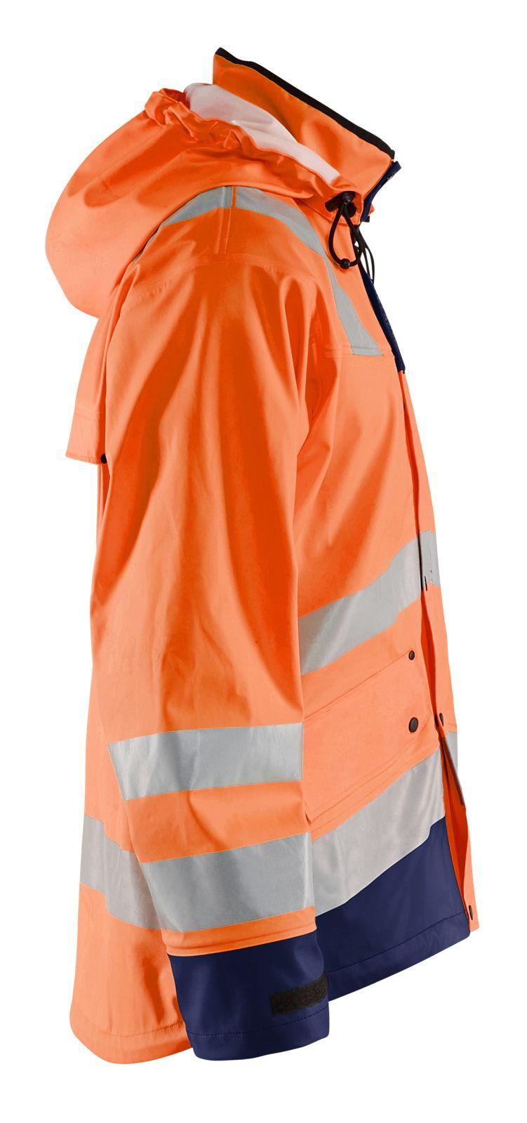 Blaklader Regenjacks 43022003 High Vis oranje-marineblauw(5389)
