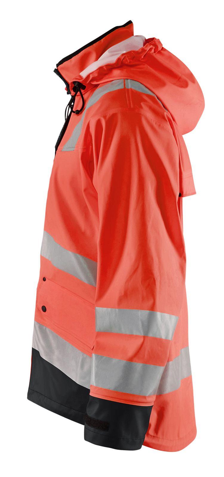 Blaklader Regenjacks 43022003 High Vis fluor rood-zwart(5599)