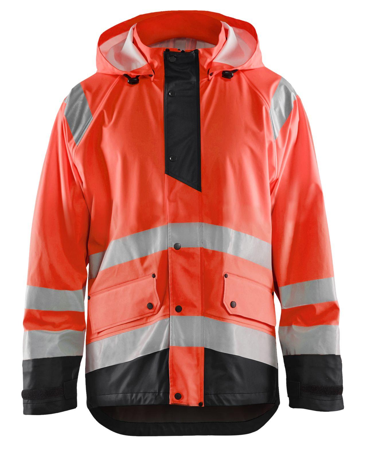 Blaklader Regenjassen 43232000 High Vis fluo rood-zwart(5599)