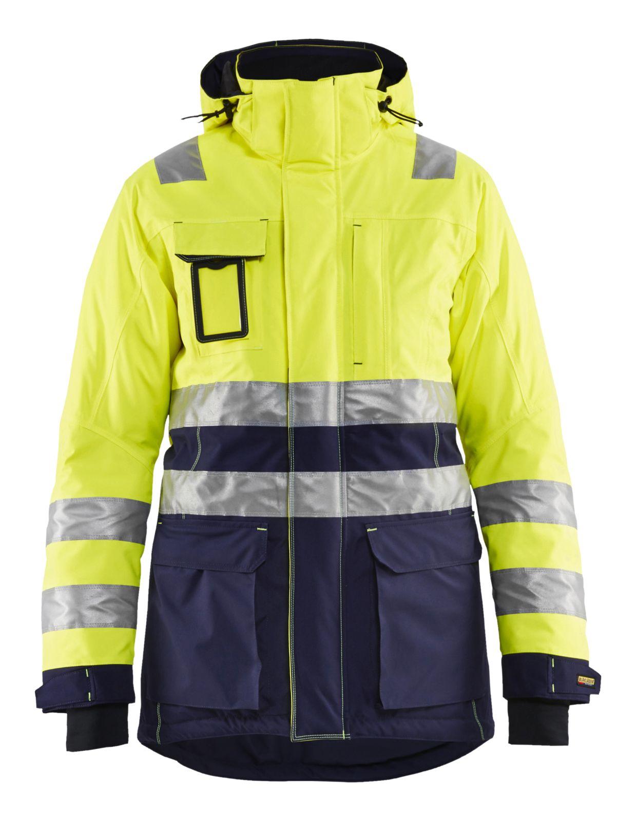Blaklader Jassen 44721987 High Vis fluo geel-marineblauw(3389)