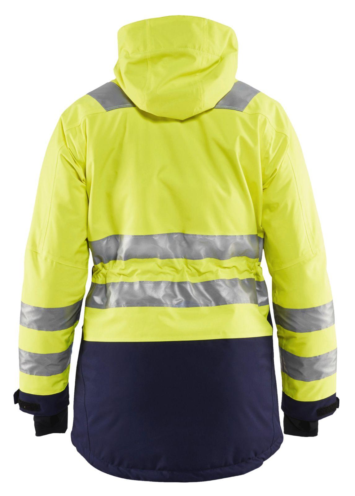 Blaklader Dames winterparka 44721987 High Vis fluo geel-marineblauw(3389)