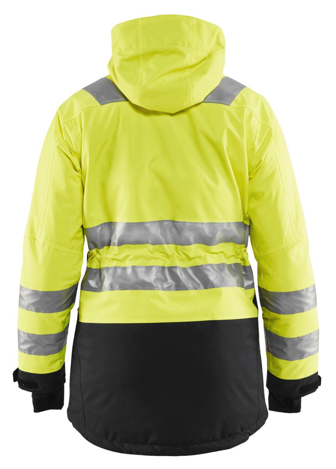 Blaklader Dames winterparka 44721987 High Vis fluo geel-zwart(3399)