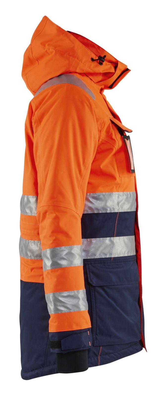Blaklader Dames winterparka 44721987 High Vis fluo oranje-marineblauw(5389)