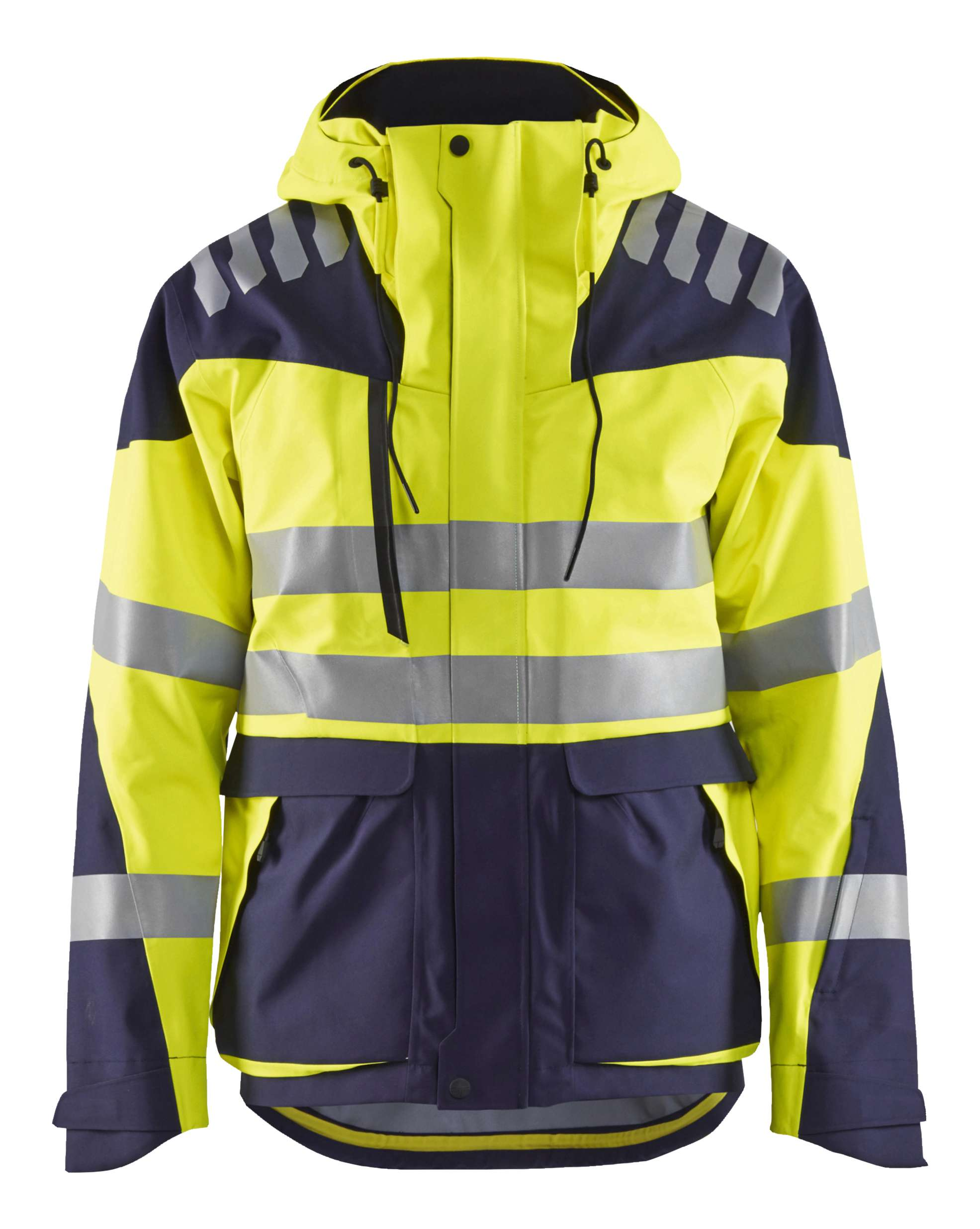 Blaklader Jassen 44901924 Stretch High Vis fluo geel-marineblauw(3389)