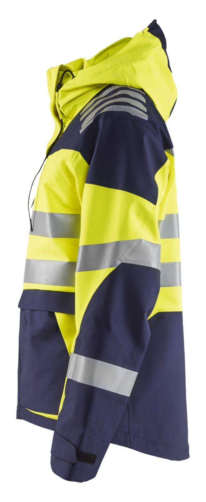 Blaklader Shell jacks 44901924 Stretch High Vis fluo geel-marineblauw(3389)