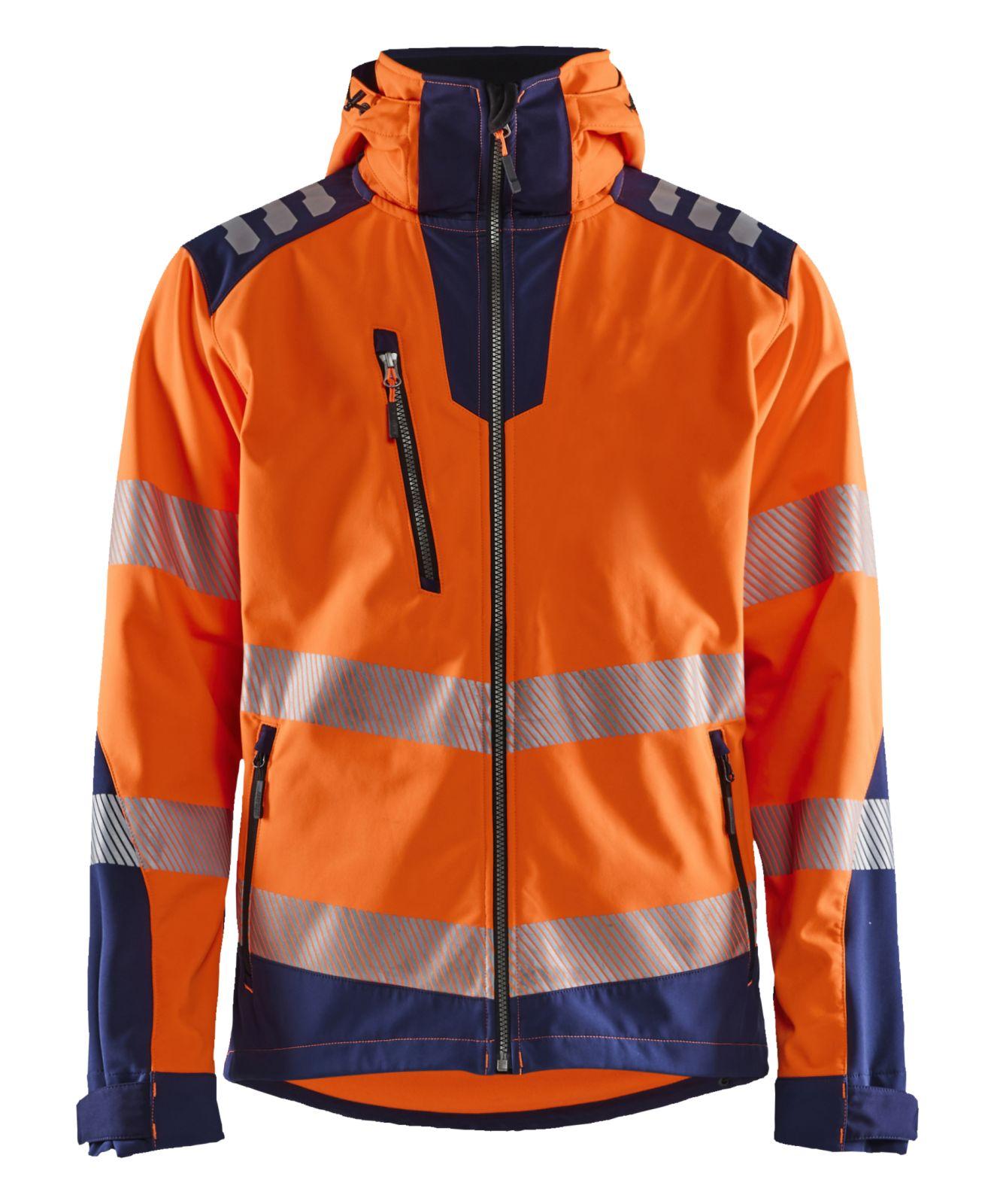 Blaklader Softshell jacks 44912513 High Vis Waterdicht fluo oranje-marineblauw(5389)