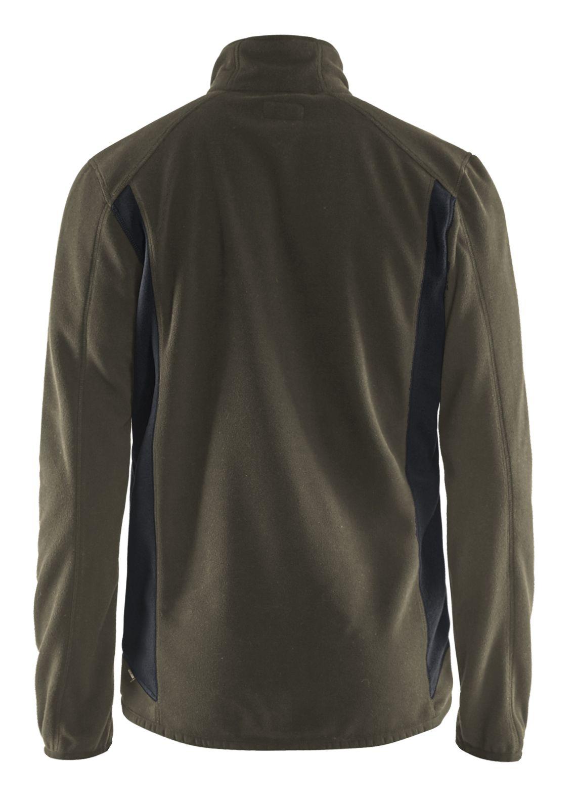 Blaklader Fleece vesten 47302510 groen-zwart(4599)