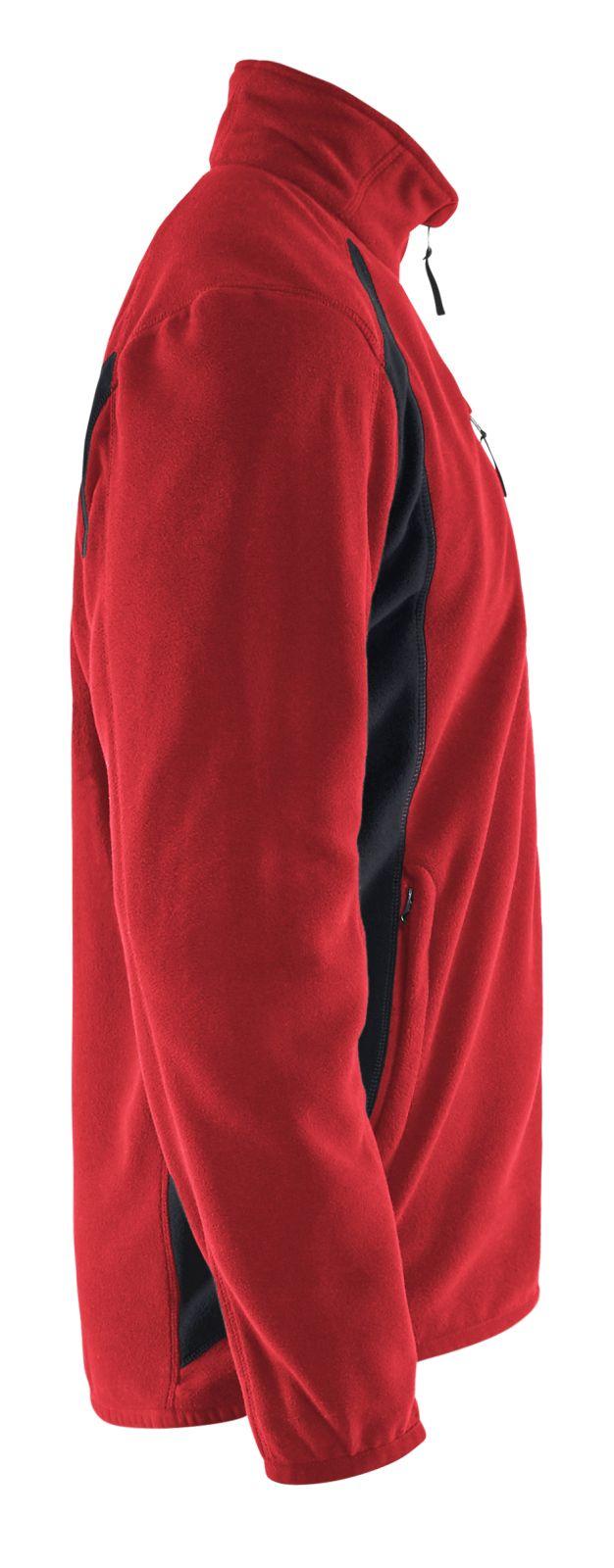 Blaklader Fleece vesten 47302510 rood-zwart(5699)