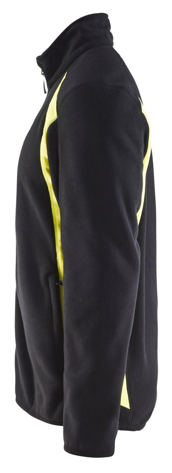Blaklader Fleece vesten 47302510 zwart-geel(9933)
