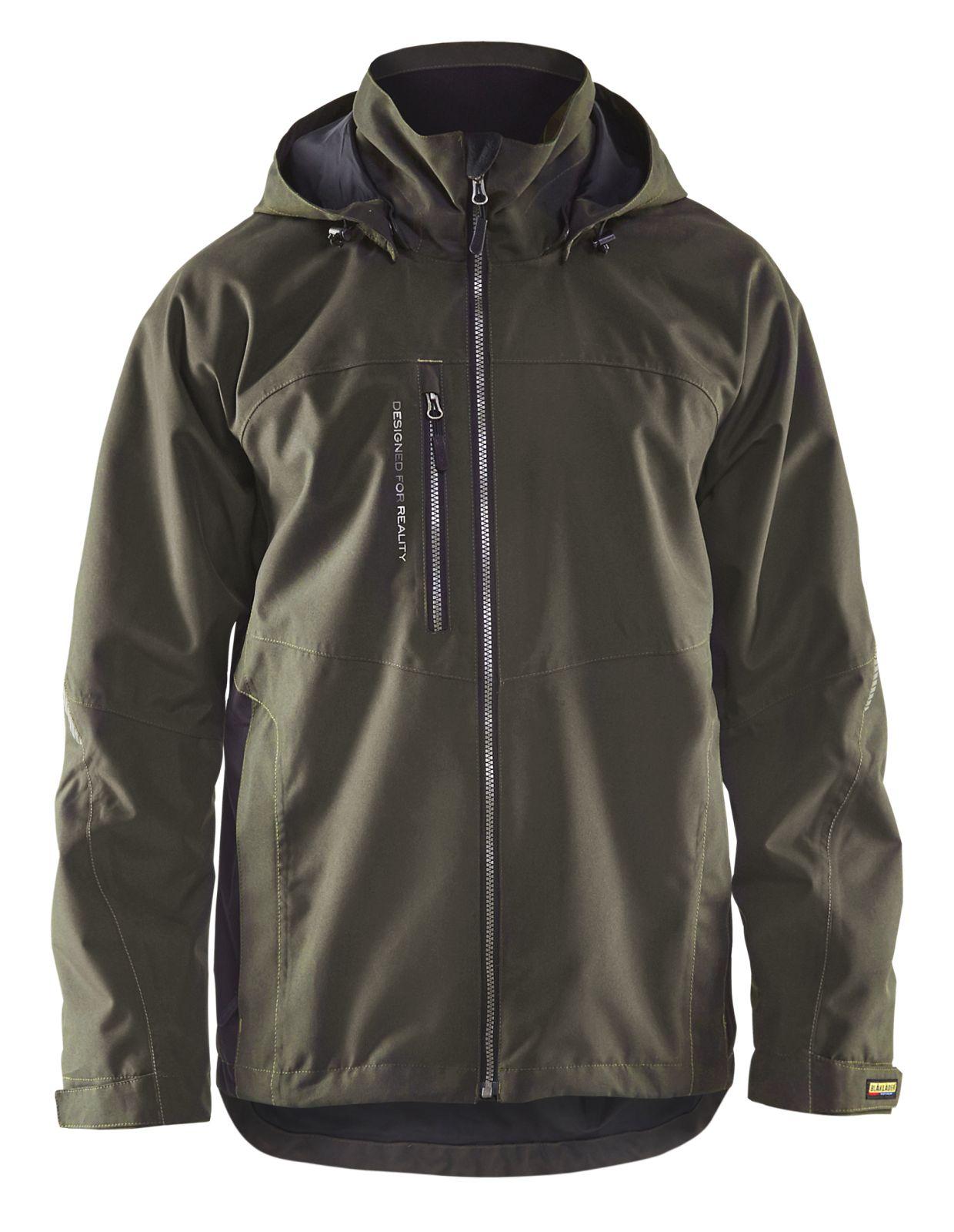 Blaklader Regenjacks 47901977 groen-zwart(4599)
