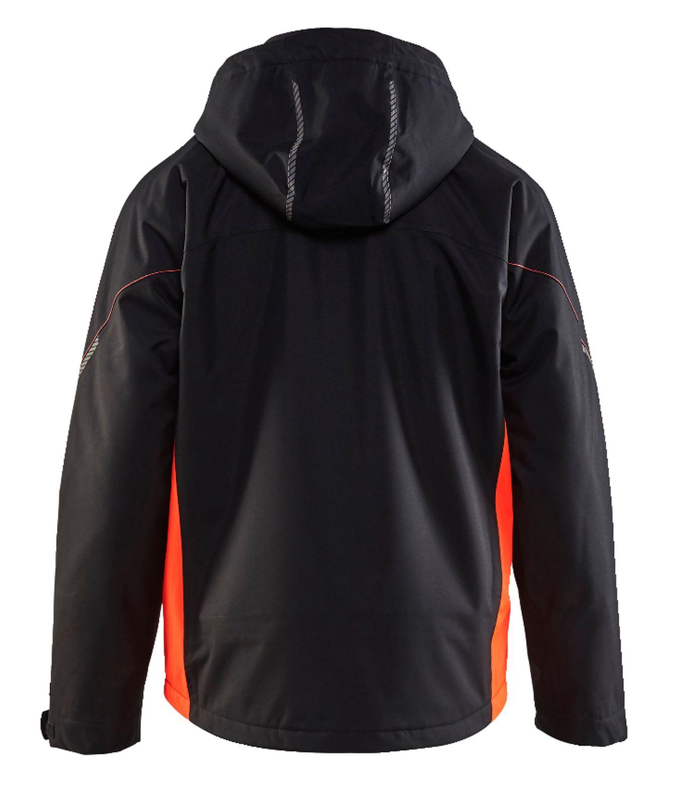Blaklader Regenjacks 47901977 zwart-fluor rood(9955)