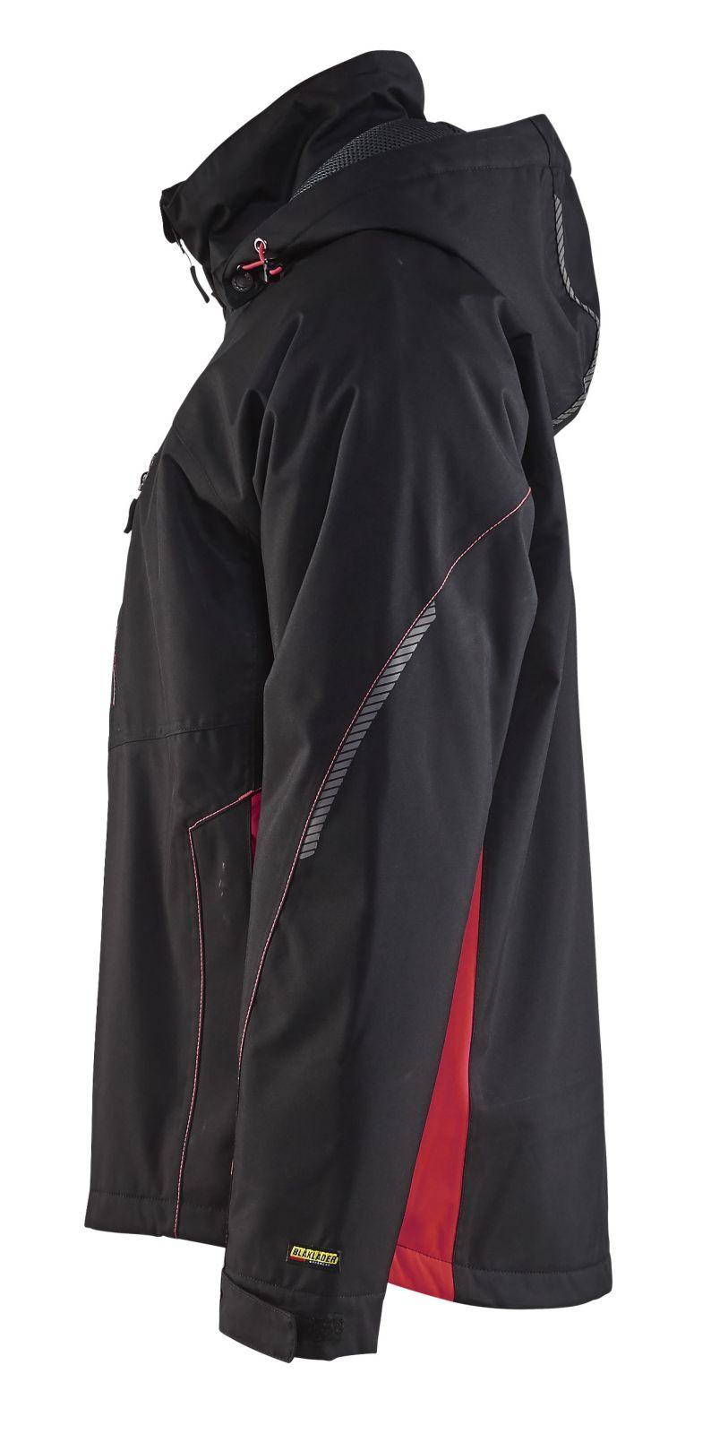 Blaklader Regenjacks 47901977 zwart-rood(9956)