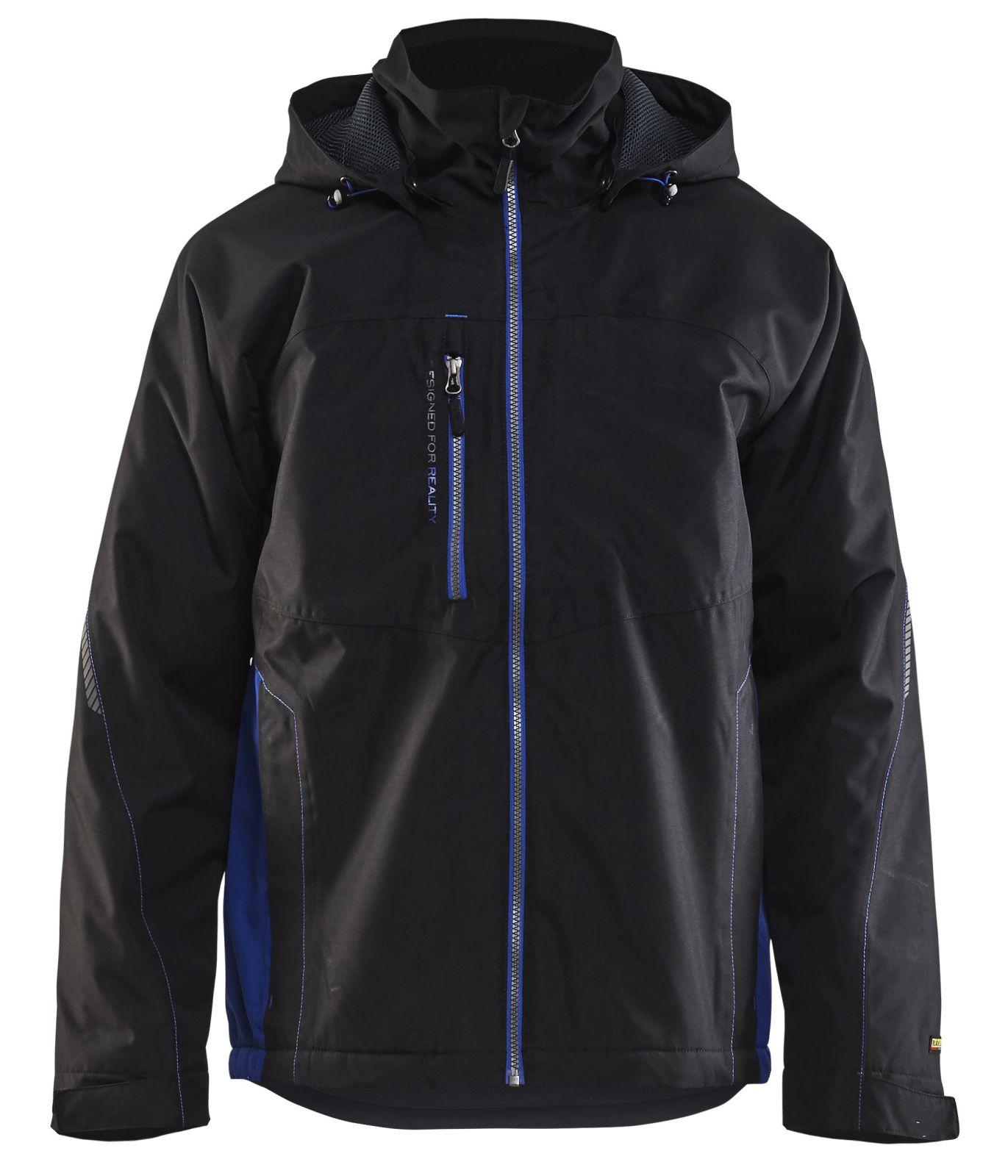 Blaklader Regenjacks 47901977 zwart-korenblauw(9985)