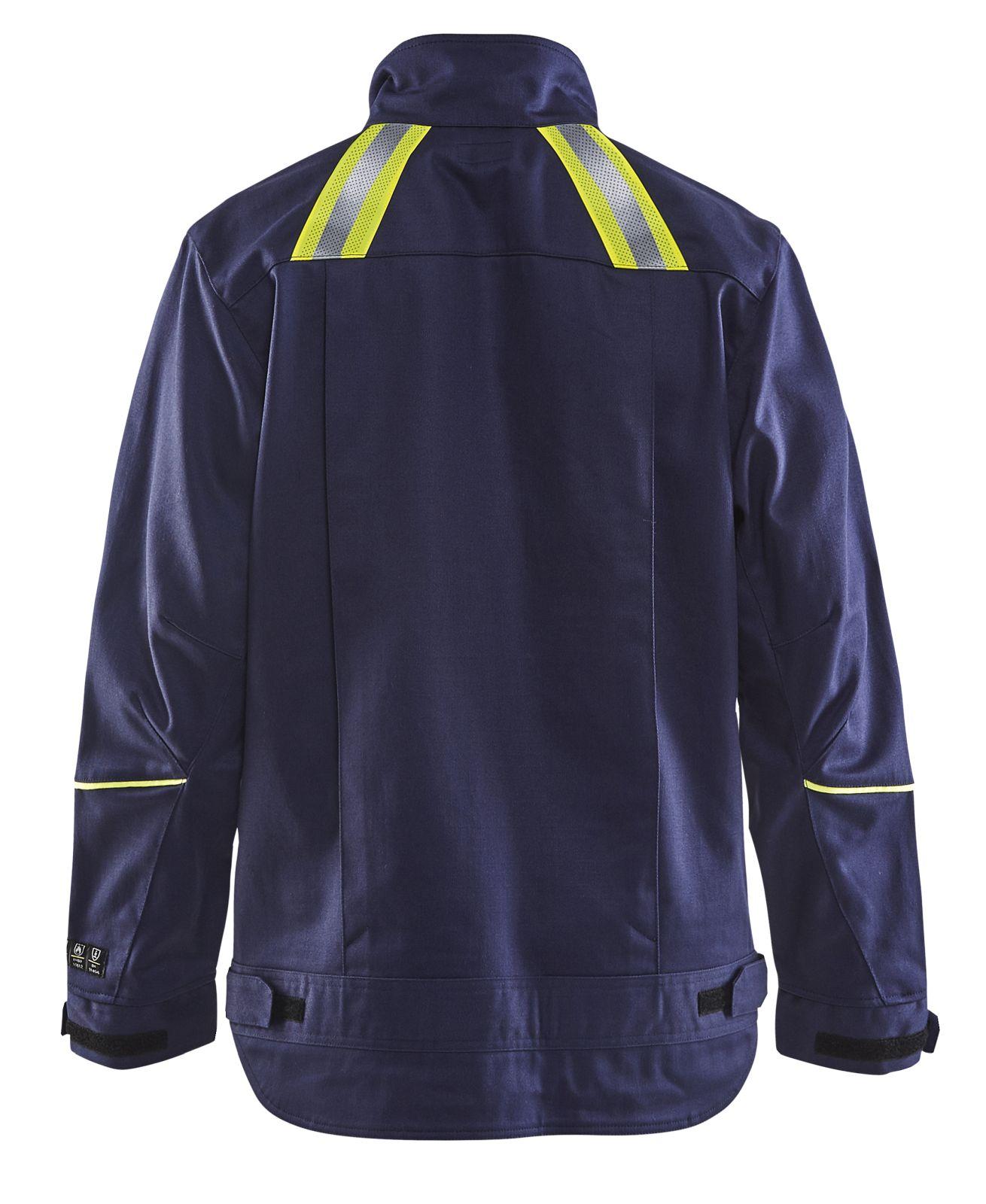 Blaklader Jassen 48011501 Vlamvertragend marineblauw-geel(8933)