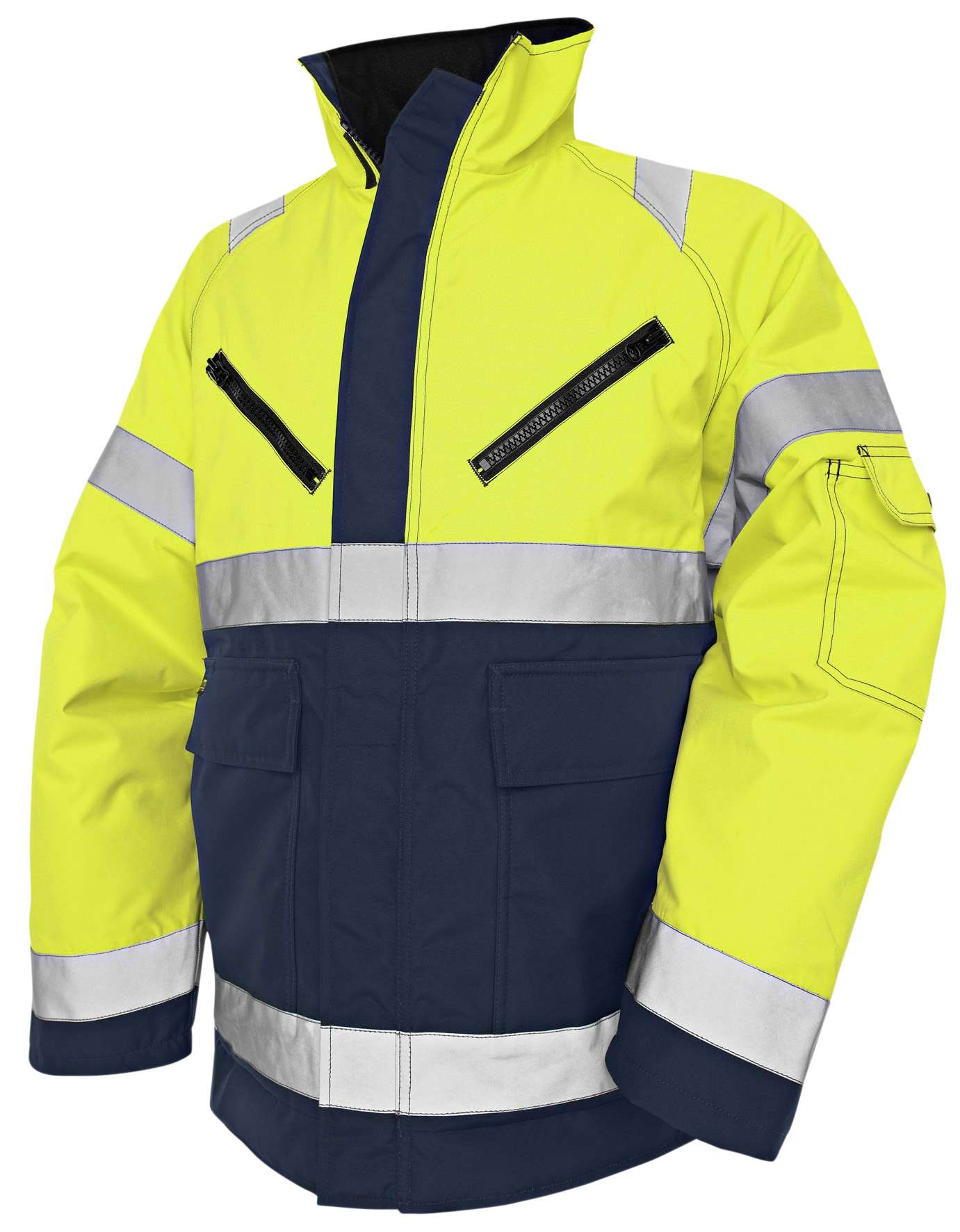 Blaklader Dames winterjassen 48191977 High Vis geel-marineblauw(3389)