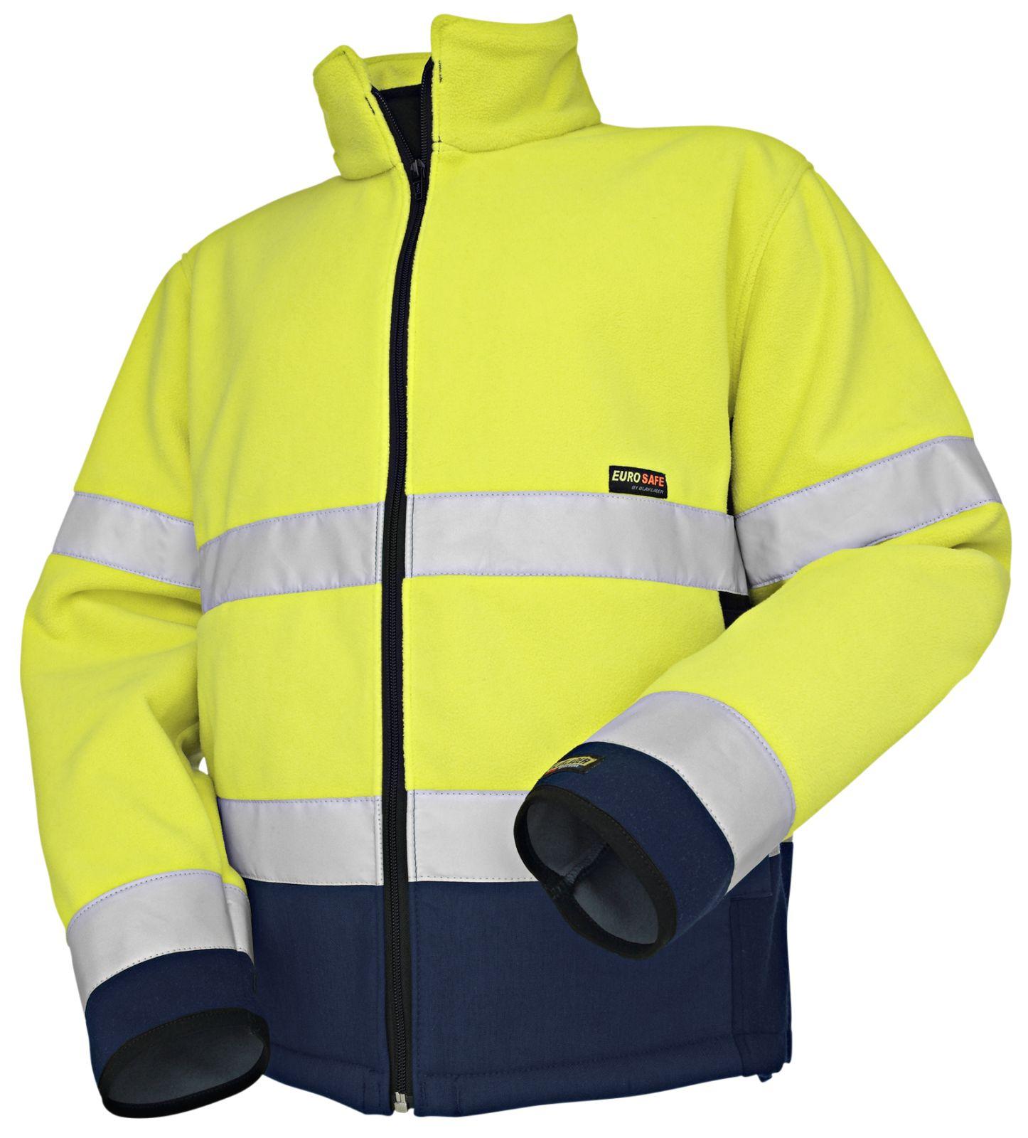 Blaklader Fleece jassen 48392545 High Vis geel-marineblauw(3389)