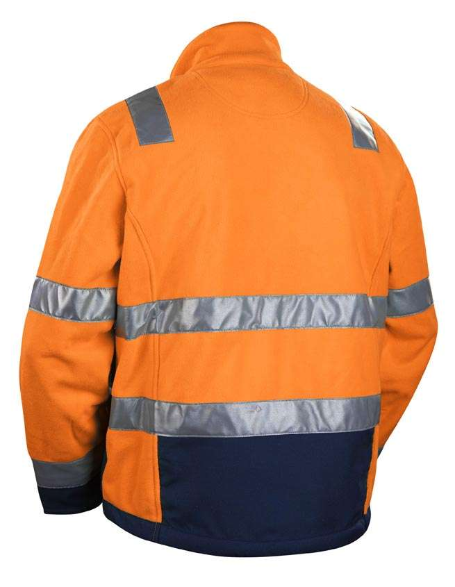 Blaklader Fleece jassen 48392545 High Vis oranje-marineblauw(5389)