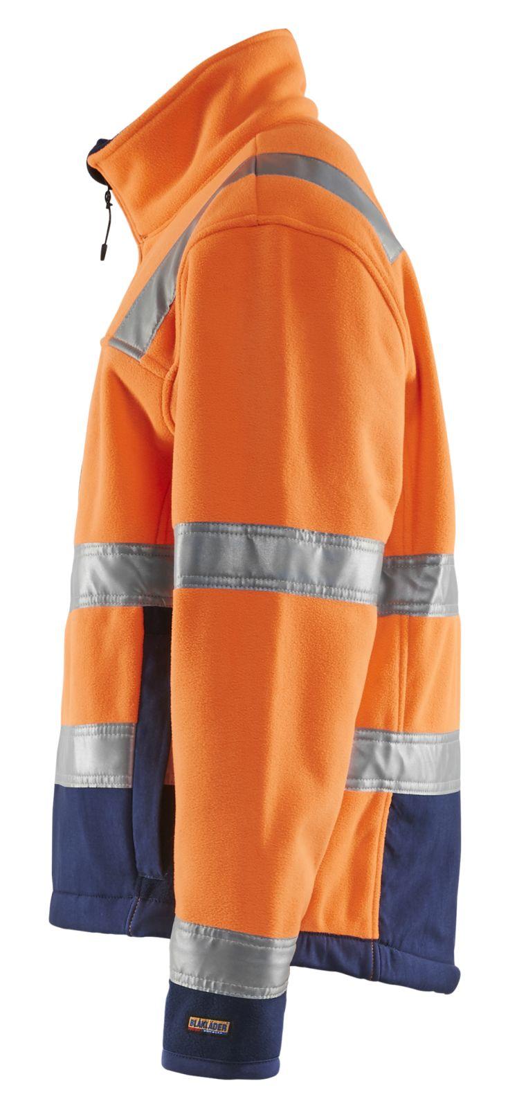 Blaklader Fleece jassen 48392545 High Vis oranje-marineblauw(5389)