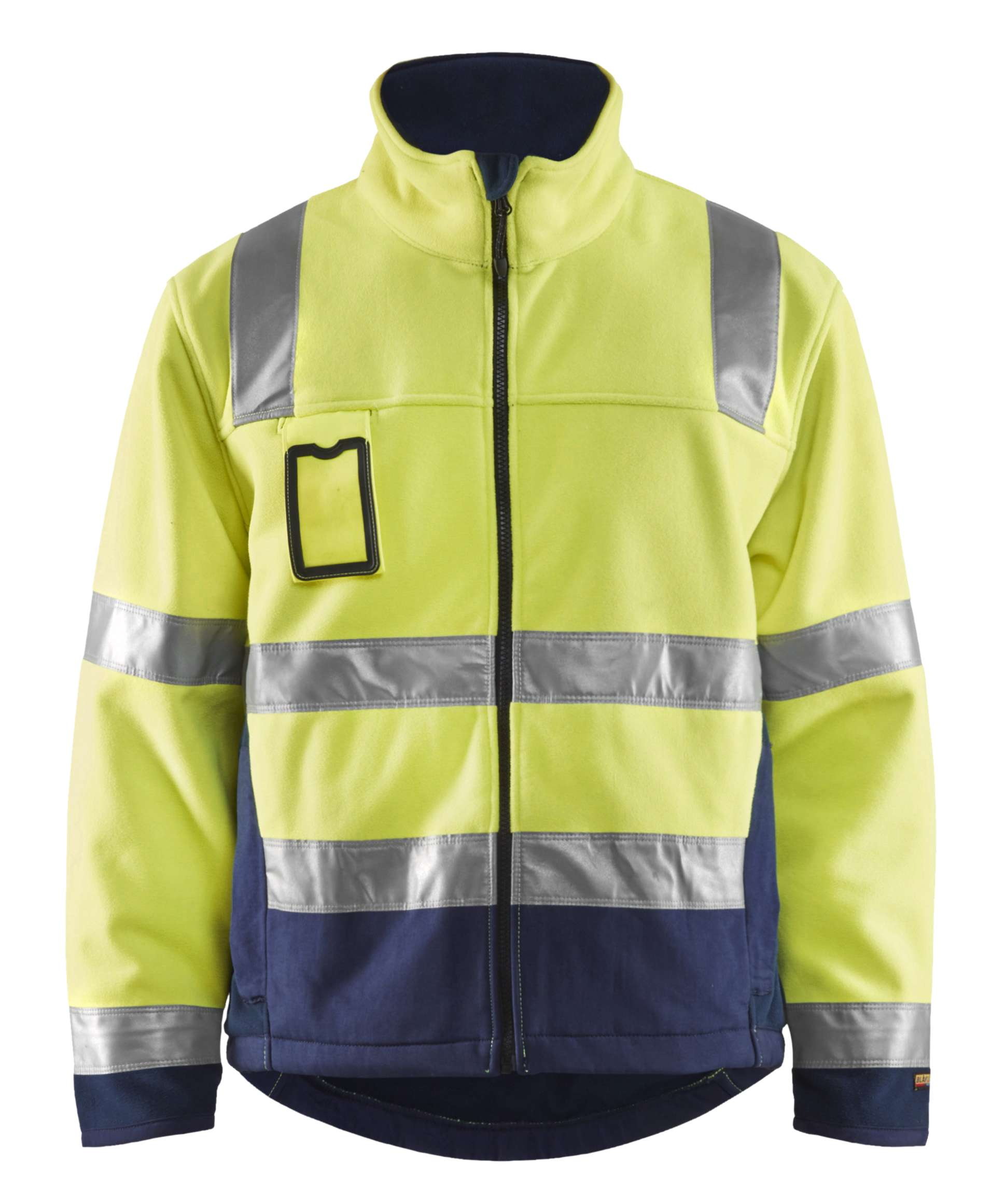 Blaklader Fleece jassen 48492545 High Vis geel-marineblauw(3389)