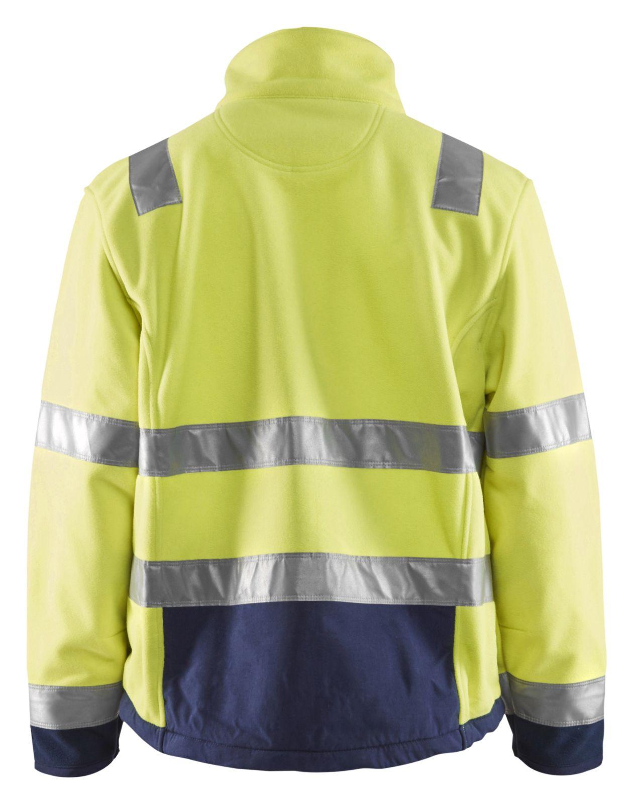 Blaklader Fleece jassen 48492545 High Vis geel-marineblauw(3389)