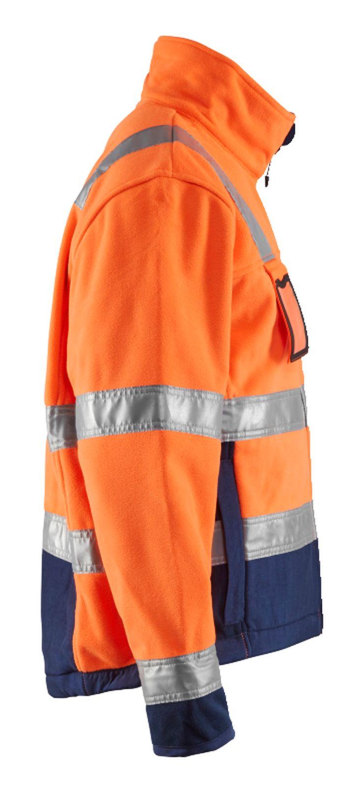 Blaklader Fleece jassen 48492545 High Vis oranje-marineblauw(5389)