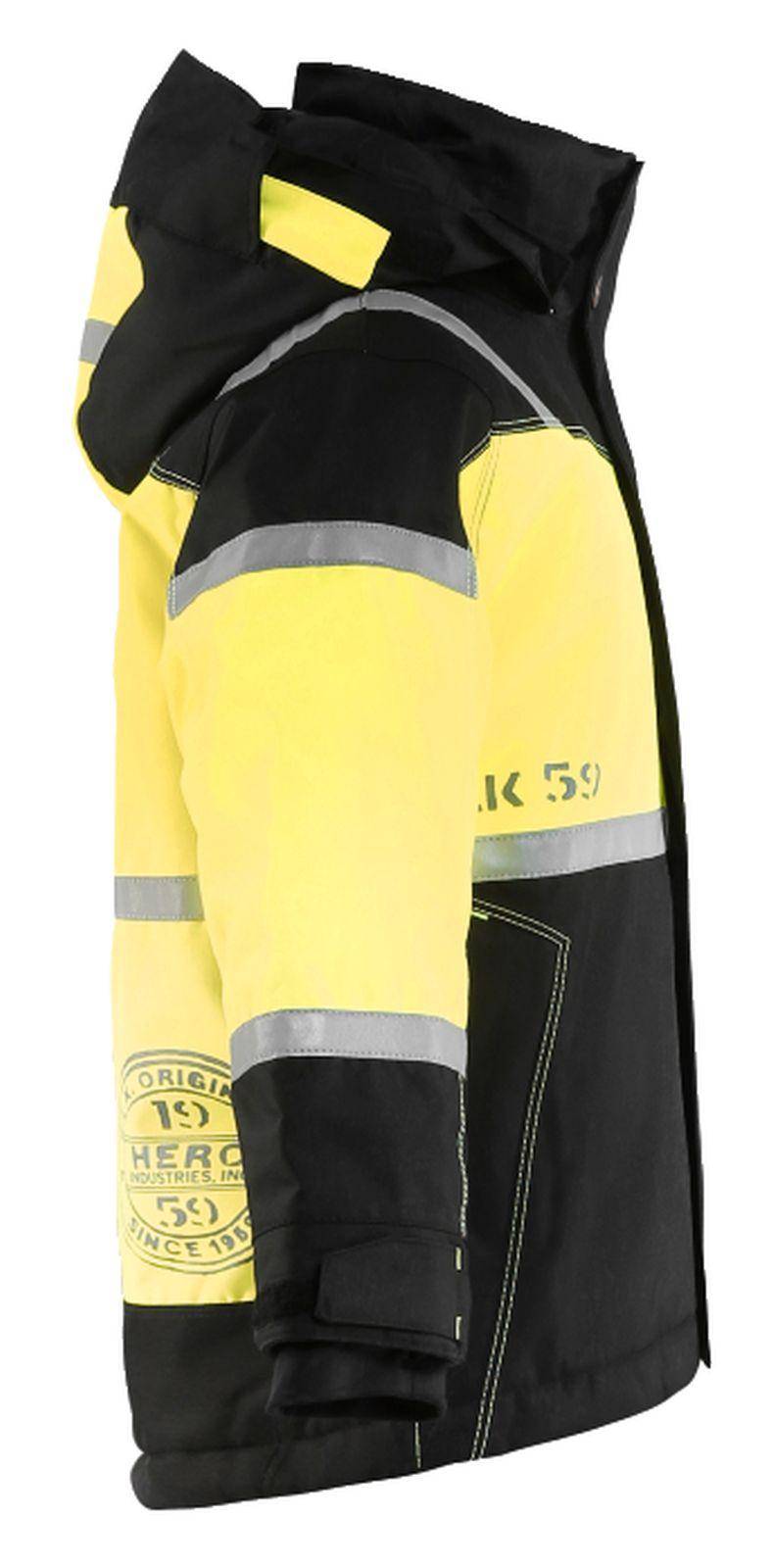 Blaklader Kinderkleding 48581977 zwart-geel(9933)