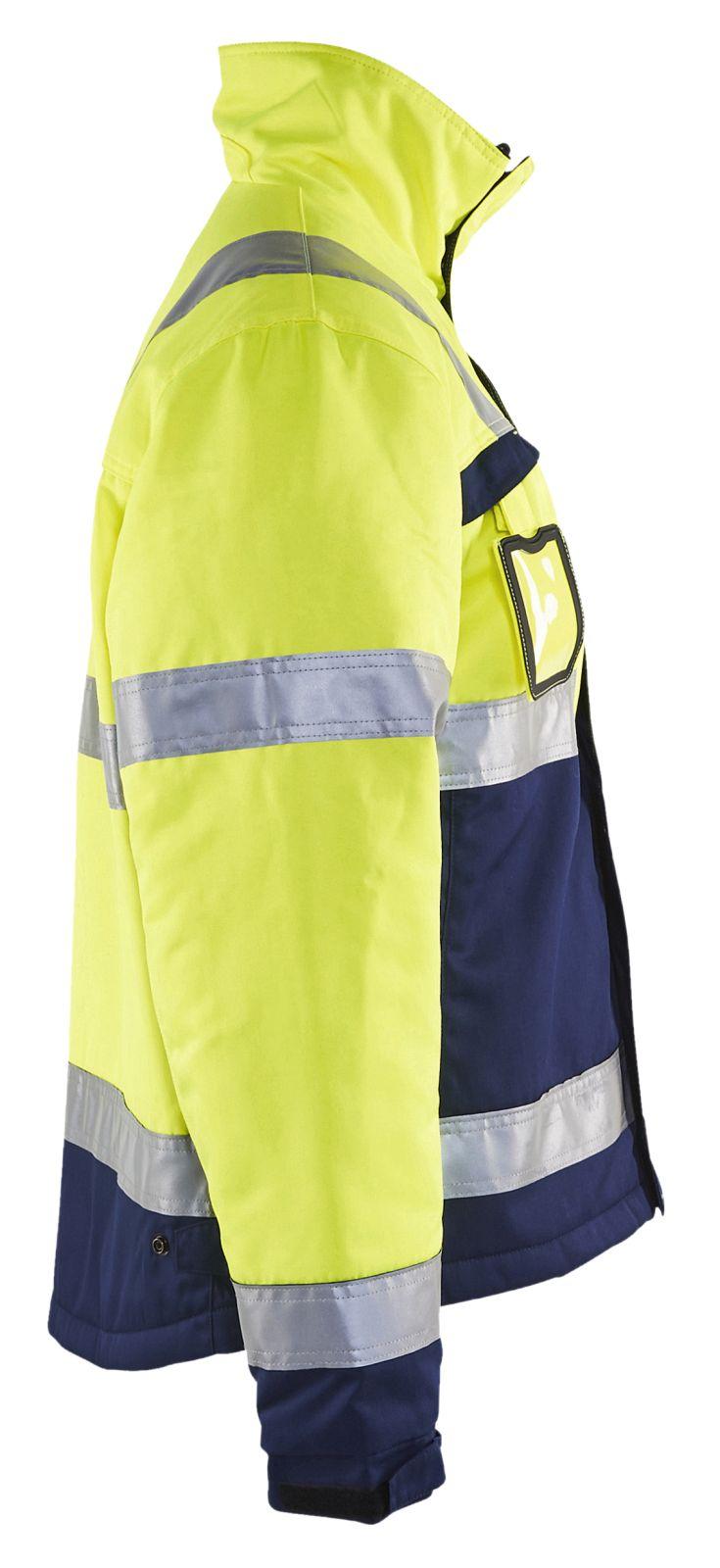 Blaklader Jassen 48621811 High Vis fluo geel-marineblauw(3389)