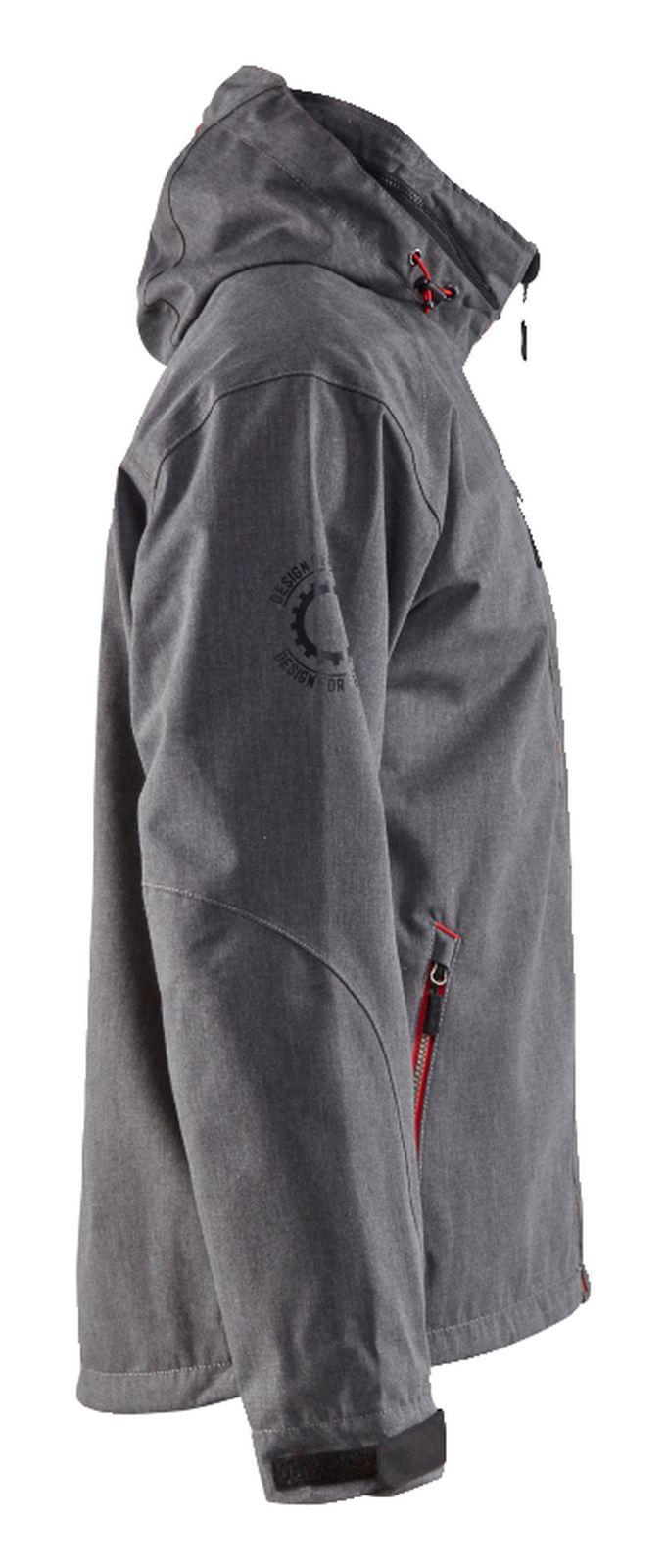 Blaklader Regenjacks 48681938 zwart melee-rood(9905)