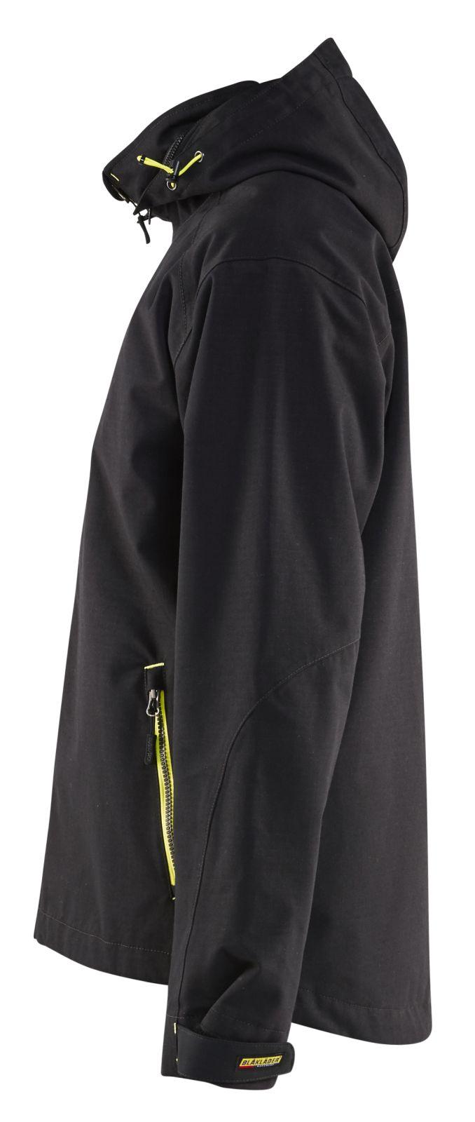 Blaklader Regenjacks 48681938 zwart-geel(9933)