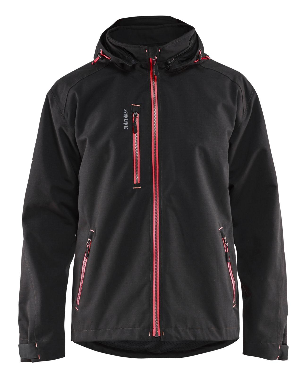 Blaklader Regenjacks 48681938 zwart-rood(9956)