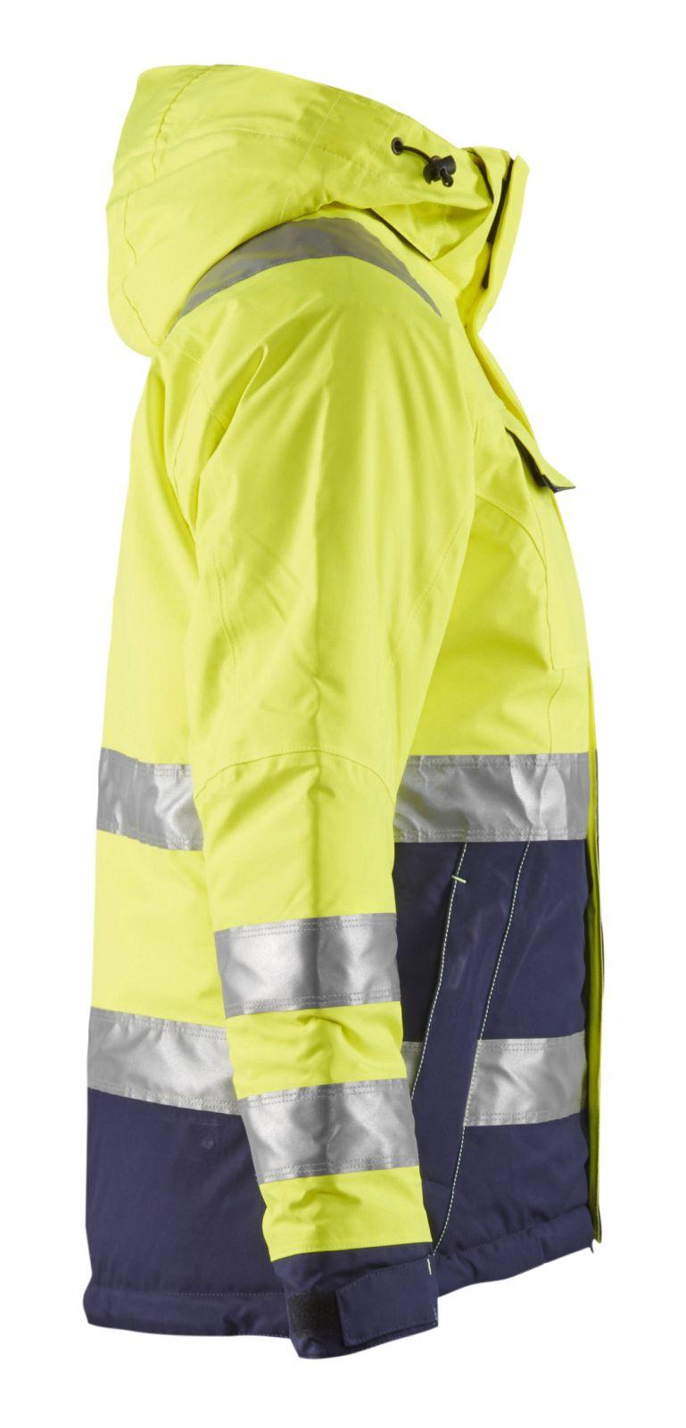 Blaklader Dames winterjacks 48721987 High Vis geel-marineblauw(3389)