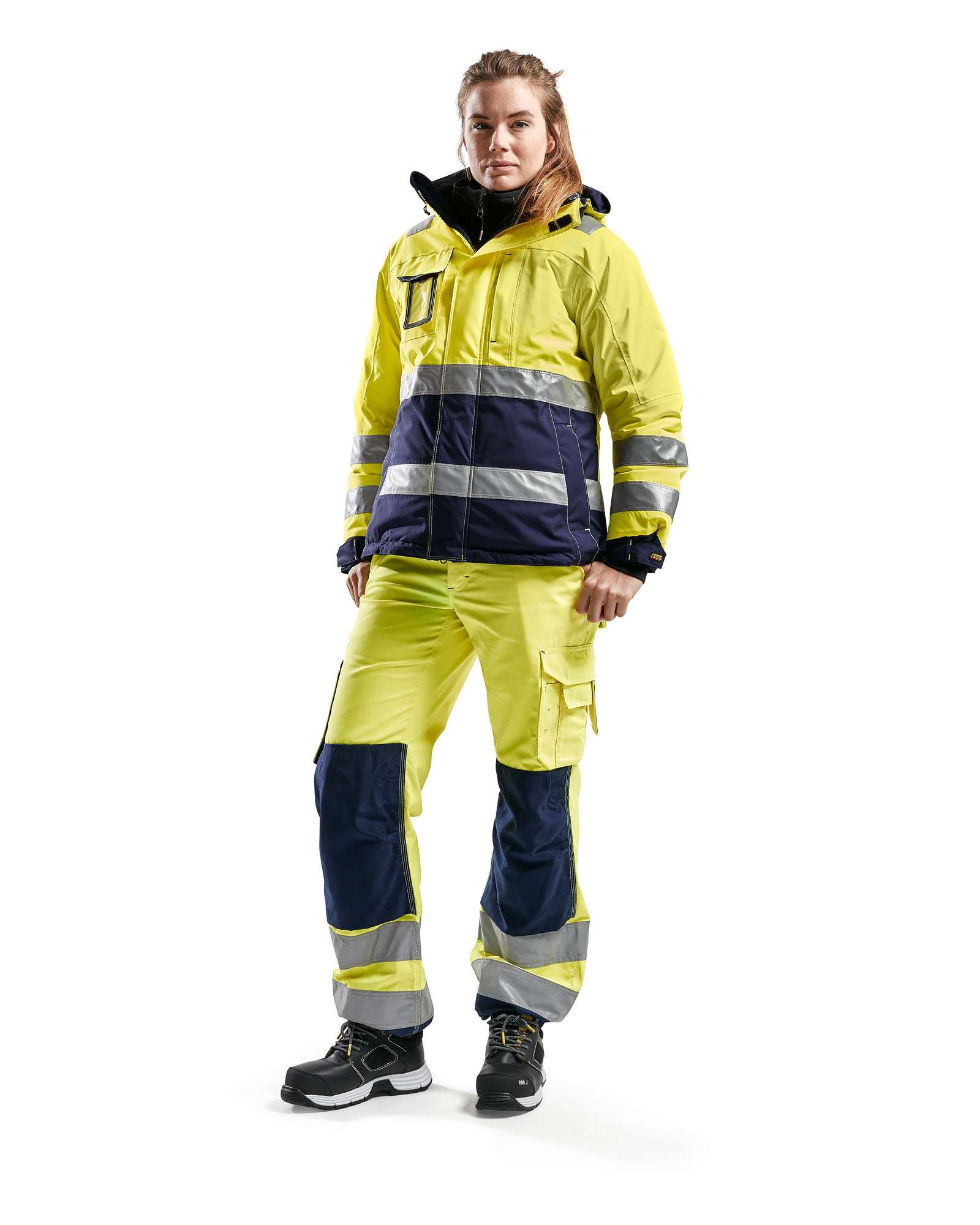 Blaklader Dames winterjacks 48721987 High Vis geel-marineblauw(3389)