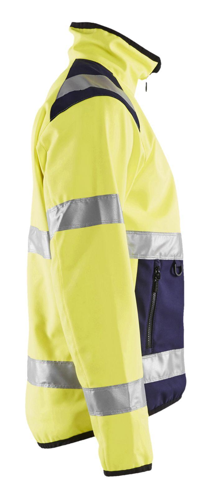 Blaklader Softshell jacks 48772516 High Vis geel-marineblauw(3389)